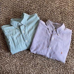 2 Ralph Lauren Button Down Shirts